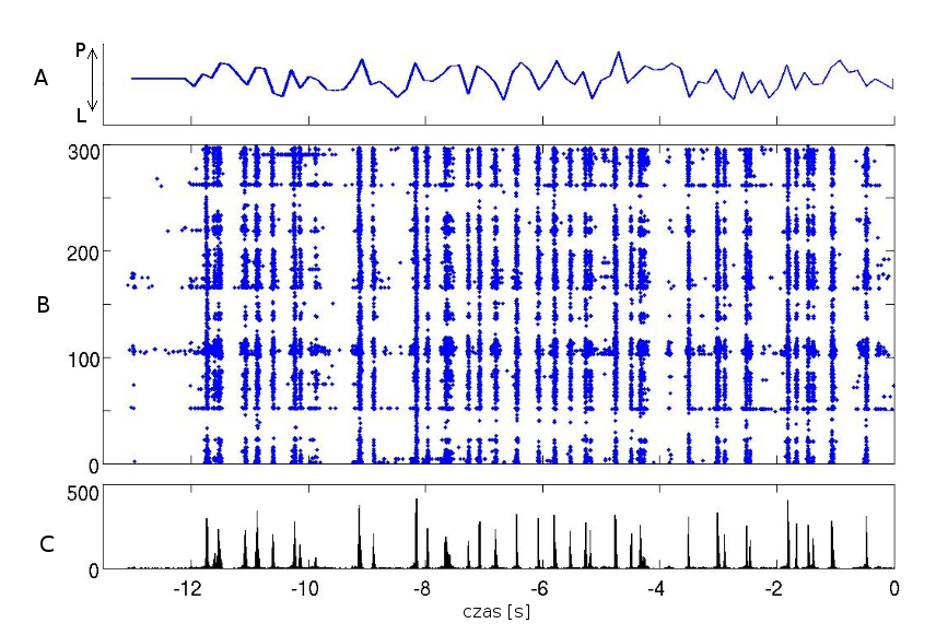 sample responses of SC neurons